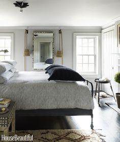 Designers at home: Jill Sharp Weeks – greige design Beautiful Bedroom Designs, Beautiful Bedrooms, Beautiful Homes, House Beautiful, Dream Bedroom, Master Bedroom, Bedroom 2017, Bedroom Black, Bedroom Furniture