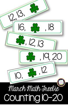 Primary Inspiration: The Leprechauns Took the Teen Numbers - kindergarten math freebie for sequence of numbers ten through 20.