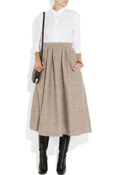 it is just something about this wool midi skirt