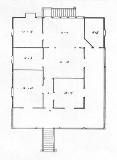 Description floor plan for workers bungalow with l shaped for Queenslander floor plans