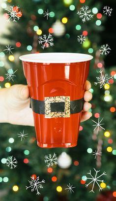 Make your own fun Christmas Santa Cups!