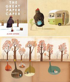The 20 Most Beautiful Children's Books of All Time The Great Paper Caper by Oliver Jeffers.