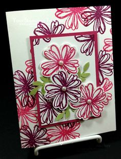 Flower shop stampin up only. Cute Cards, Diy Cards, Copic, Making Greeting Cards, Stamping Up Cards, Creative Cards, Flower Cards, Scrapbook Cards, Homemade Cards