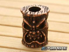 Schmuckatelli Ona Tiki Bead Roman Copper Oxidized Pewter