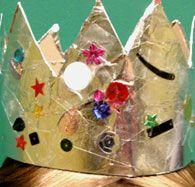 VISUAL ART: Make A Silver Foil Crown - Dress Ups - Fun Activities For Kids