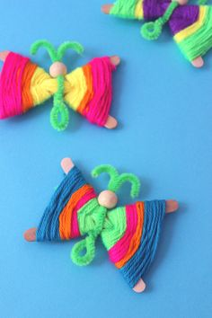 popsicle stick kids crafts – jane can Popsicle Stick Crafts For Kids, Popsicle Sticks, Craft Stick Crafts, Diy And Crafts, Kids Crafts, Craft Kids, Class Art Projects, Doll Party, Butterfly Crafts