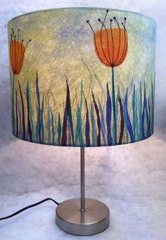 A lutradur lampshade.