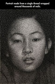 Art with just a single thread and thousands of nails…
