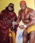 Randy Savage & Hulk HogaHand Signed 8x10 Photo W/COA. WWE WWF WCW HOF   DIG IT!!