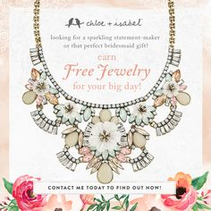 So many gorgeous options and looks for your entire bridal party!  Get the Brides jewels for free!  https://www.chloeandisabel.com/boutique/annipounds