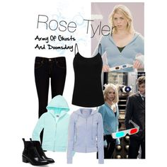 Rose Tyler Army of Ghosts and Doomsday Doctor Who Cosplay, Doctor Who Outfits, Fandom Outfits, Rose Tyler Costume, Rose Tyler Outfit, Doctor Who Rose Tyler, Fifth Doctor, Donna Noble, Style Inspiration