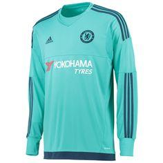 019781fb94b adidas 15 16 チェルシー ホーム 長袖 GK ユニフォーム Soccer Kits
