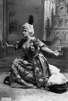 Dame Nellie Melba in an 1896 Opera incredibly world famous, very early international star.