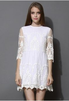 In Your Dreams Lace Embroidered Mesh Dress - Retro f34752f401