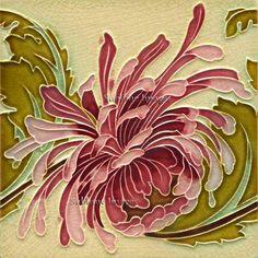 Items similar to - Gloss Ceramic or Glass Tile - Vintage Art Nouveau Reproduction Tile - Floral Swirl - Various Sizes on Etsy Antique Tiles, Vintage Tile, Vintage Design, Vintage Art, Motifs Art Nouveau, Azulejos Art Nouveau, Art Nouveau Flowers, Art Nouveau Tiles, Art Nouveau Design