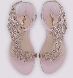 Webster Seraphina Angel-Wing Flat Sandal, Pink Glitter Seraphina Angel-Wing Flat Sandal, Pink Glitter by Sophia Webster at Neiman Marcus.Seraphina Angel-Wing Flat Sandal, Pink Glitter by Sophia Webster at Neiman Marcus. Glitter Sandals, Pink Sandals, Flat Sandals, Bridal Sandals, Shoes Sandals, Sandals Wedding, Jelly Sandals, Heeled Sandals, Pink Flats
