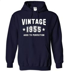 VINTAGE 1955 Birthday Aged To Perfection - #polo shirt #sweatshirt for women. ORDER NOW => https://www.sunfrog.com/Birth-Years/VINTAGE-1955-Birthday-Aged-To-Perfection-NavyBlue-14544408-Hoodie.html?68278