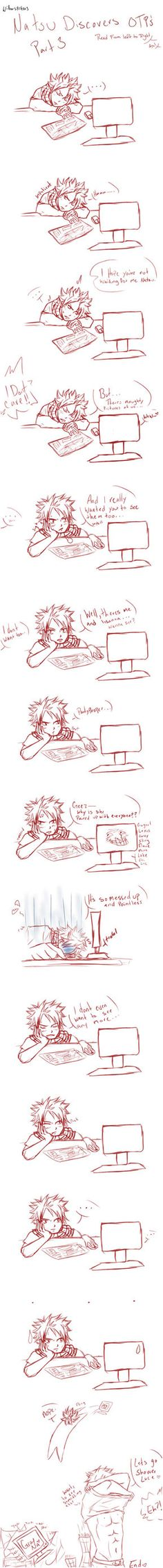 Natsu Discovers OTP's - Nalu III by willowspritex3 on DeviantArt~ Fairy Tail