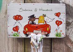 Wedding Birds, Wedding Car, Gift Wedding, Sunflower Wedding Decorations, Creative Money Gifts, Nursery Letters, Unique Doors, Baptism Gifts, Flower Boxes