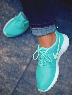 Nike shoes in Tiffany Blue