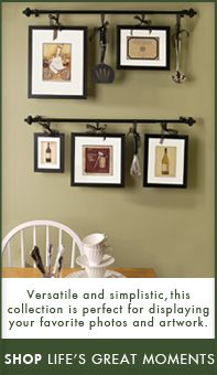 Hang Ribbon Frames From Curtain Rods I Like The Idea Of Framing Old Hand Written Family Recipes Too Diy In 2019 Home Decor