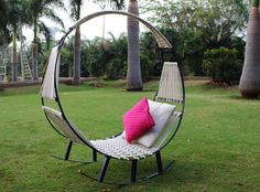 Your Backyard Needs This Amazing Hammock-Rocking Chair  - HouseBeautiful.com