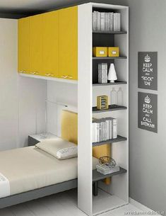 Camerette per bambini e ragazzi Moretti Compact Small Room Bedroom, Home Bedroom, Kids Bedroom, Bedroom Decor, Kids Room Design, Bed Design, Teen Room Designs, Bed Shelves, Girl Room