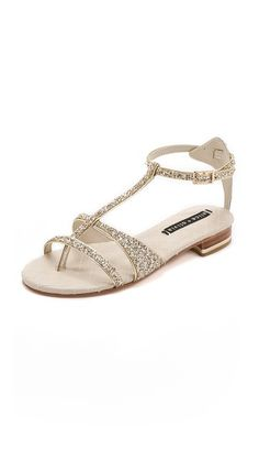 alice + olivia Nola Flat Glitter Sandals