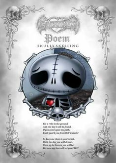 If you come upon my path I will guard you from Hell's wrath!   Skully Skelling ❤️ www.myfrightlings.com