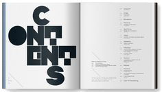 Love this contents page, makes something simple into something really nice in design terms, lovely layout.