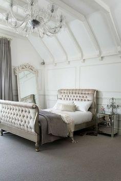 Upholstered Slay Bed