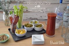 Bloody Mary Bar with Candied Bacon