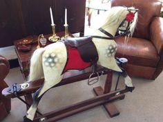 A beautifully restored rocking horse