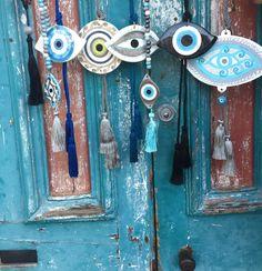 Evil Eye Art, Embroidery Designs, Greek Evil Eye, Eye Jewelry, Hamsa Hand, Lucky Charm, Clay Crafts, Cool Eyes, Art Lessons