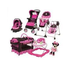 Minnie Mouse Newborn Set Stroller Playard Baby Girl Pink Infant Disney Gift New