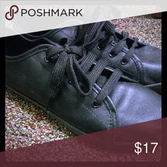 Shoes Waterproof leather sneakers.  Used only few times Brand: Breckelle's Brandy Melville Shoes Sneakers