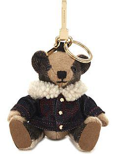 5bc7ef96586e BURBERRY Thomas Bear cashmere charm with rucksack 12cm Burberry Bear