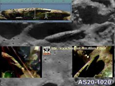 """Look at this UNBELIEVABLE MASSIVE ALIEN MOTHERSHIP landed on MOON, 500m high * 4km long!! Its not star war movies..This is completely real Landed on moon since many years ago!! """"Look at the craft's SHADOW on MOON's surface..."""" August 1976,image by Apollo 20"""