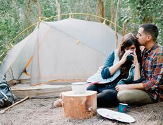 Camping Engagement Session from Merari Photography - Inspired By This // US!