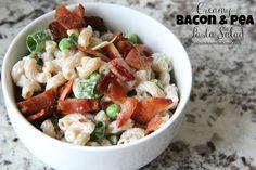 Mix and Match Mama: Creamy Bacon & Pea Pasta Salad