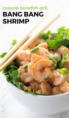 Crispy, crunchy shrimp tossed in a sweet and spicy sauce! This Bang Bang Shrimp is beyond easy to make. It sounds intimidating, but the sauce is just a few ingredients that you've probably got hanging out in the fridge. Grab yourself some shrimp from the freezer and you're ready to do this.