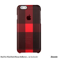 Mad For Plaid Red iPhone Deflector Case Uncommon Clearly™ Deflector iPhone 6 Case