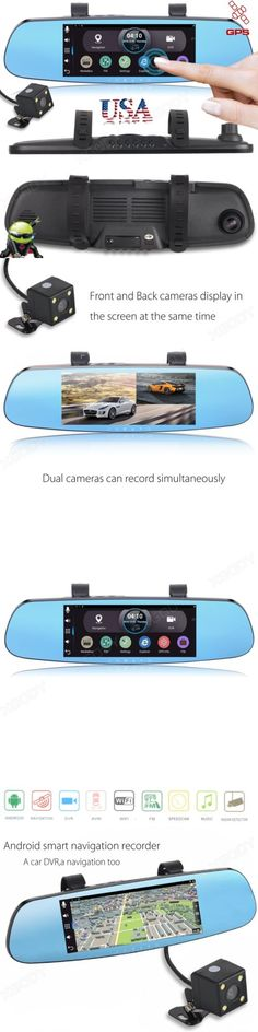 Digital Video Recorders Cards: Android 7 Hd 1080P Dual Lens Car Dvr Camera Rearview Mirror Wifi Gps Navigation BUY IT NOW ONLY: $105.89