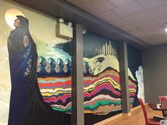 Mural focused on neglected history of Woodbury, NJ.  You can see the mural at Fiore's Bagel Nook.