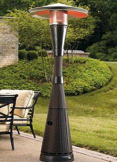All-weather Woven Patio Our towering All-weather Woven Heater blends in seamlessly with your outdoor wicker decor.