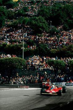 Jody Scheckter & Gilles Villeneuve, Ferrari 312 T4, Monaco, 1979 # Gilles Villeneuve # F1 # formula 1 # formule 1 # Ferrari