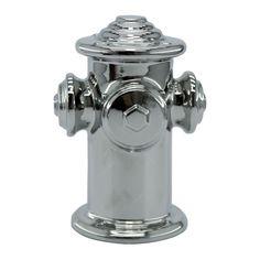 Objeto Decorativo Hidrante Cromado em Cerâmica - 20x14 cm | Carro de Mola - Decorar faz bem.
