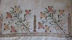 OTTOMAN SILK EMBROIDERED TOWEL