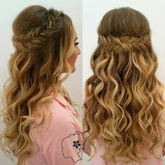 Half Up Fishtail Braid Hairstyle for Bridesmaids