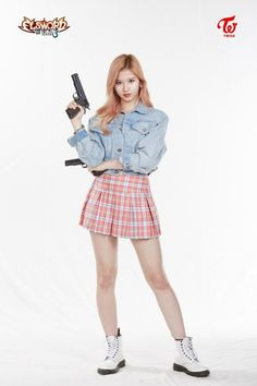 TWICE are dressed to kill for a badass pictorial with 'Elsword' Female Pose Reference, Pose Reference Photo, Human Reference, Drawing Reference Poses, Elsword, Fashion Poses, Fashion Outfits, Sana Cute, Poses Photo